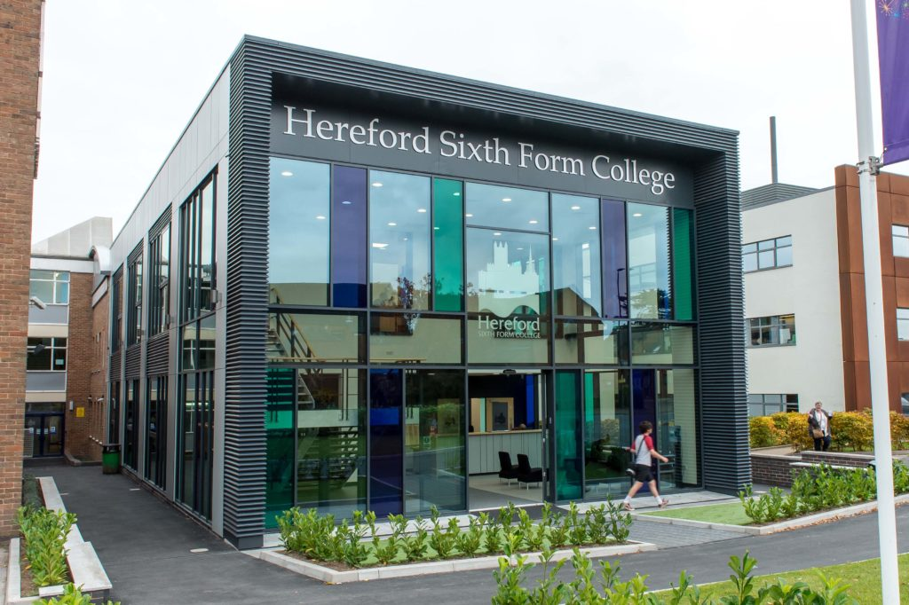 Hereford Sixth Form College | New Entrance Building | OHA - Owen ...